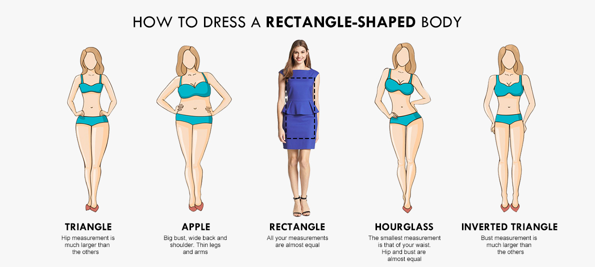 How to dress a rectangle body